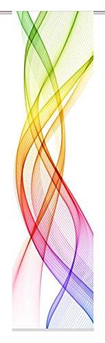Home Fashion FERROL Schiebevorhang Digitaldruck, Stoff, Mehrfarbig, 245 x 60 cm