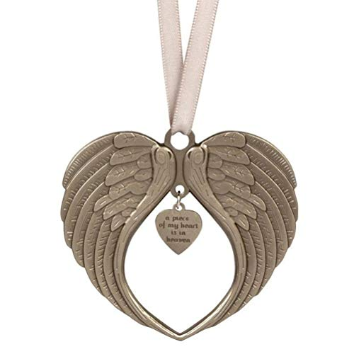 BSTCAR Christmas Ornaments Angel Wings, A Piece Of My Heart Is In Heaven Ornament for Christmas Tree, Double Sided Memorial Ornament for Loss Of Loved One