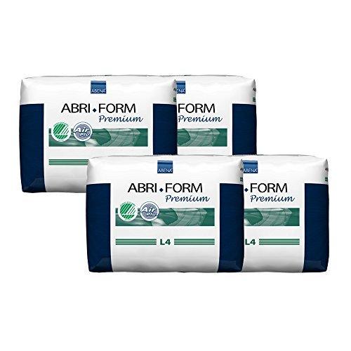 Abena Abri-Form Premium Incontinence Briefs, Large, L4, 48 Count (4 Packs of 12) by Abena