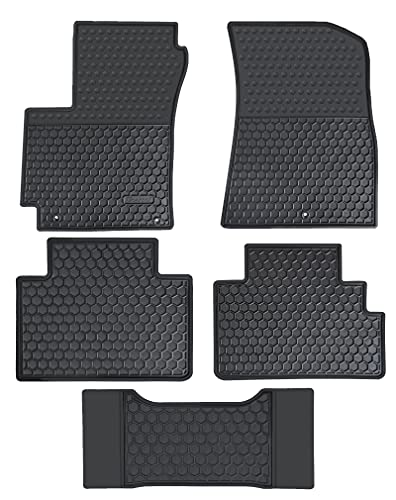 Megiteller Car Floor Mats Custom Fit for 2022 2021 2020 2019 2018 2017 2016 2015 2014 Kia Soul Odorless Washable Heavy Duty Rubber (All Weather) Floor Liners Front and Rear Row Set Black