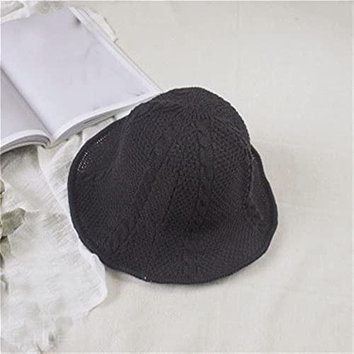 Flashing Pantalla de Sol de Moda Sombrero Corto Salto de Verano Sombrero de Paja Sombrero de Paja Pescador Gorras (Color : E, Size : Mcode)