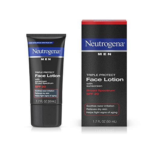 Neutrogena Men Triple Protect Face Lotion, SPF 20, Advanced Formula, 1.7 Flui...