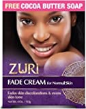 Zuri Fade Cream for Normal Skin 4 ounce with Cocoa Butter Soap