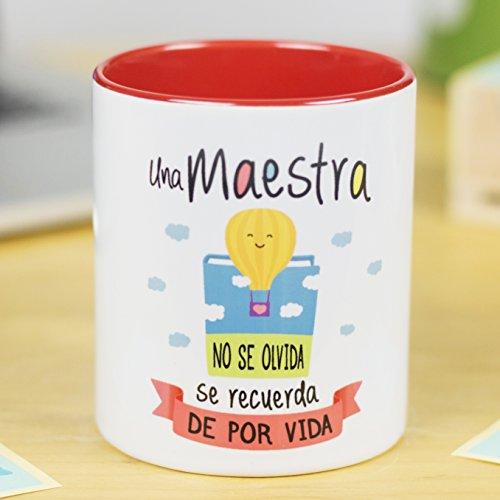 La Mente es Maravillosa - Taza frase y dibujo divertido (Una maestra...