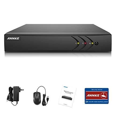 ANNKE TVI 5MP 4 Canali Network Digital Video H.265+ Recorder Video Sorveglianza Videoregistratore CCTV DVR/HVR/NVR Sicurezza di Sistema P2P Email Allarme 3 Snapshot Manuale Italiano 1TB HDD