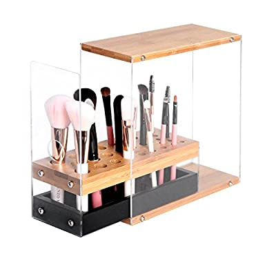 JackCubeDesign MK228 - Acrylic Brush Organizer with Bamboo