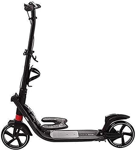 monopatín patinete Scooter de patada plegable para adolescentes adultos   Empuje scooter con manillar ajustable   Scooter de la ciudad de la rueda de la PU absorbente de choque con el freno de mano