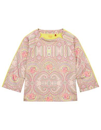Oilily Rosafarbenes Sweatshirt mit Paisley-Print YS19GHJ207