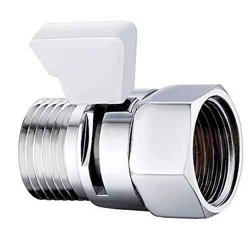 LUCY WEI Duschkopf Ventil G1/2 zoll,Dusche Head Absperrventil aus Messing,Absperrventil Dusche für Duschkopf,Handbrause