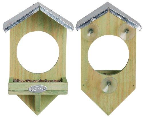 Esschert Design Fensterfutterhaus, Holz, 17 x 20 x 9 cm, FB4