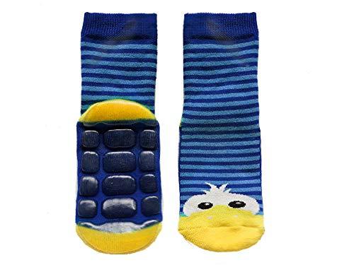 Weri Spezials baby- en kindersok met ABS-stopper sokken anti-slip sokken 'Eend' Petrol