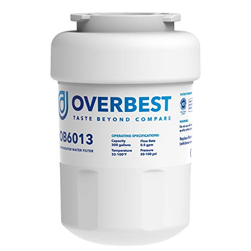 Overbest OB6013 MWF Water Filter, Replacement For GE Smart Water MWF, MWFINT, MWFP, MWFA, GWF, HDX FMG-1, GSE25GSHECSS, WFC1201, RWF1060, 197D6321P006, Kenmore 9991