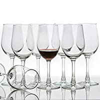 All-Purpose Wine Glasses (Set of 8, 12 Ounce), Lead Free, Classic