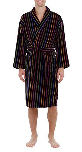 Bown of London - Peignoir en Velours à Rayures - Homme - 100% Coton (XL)