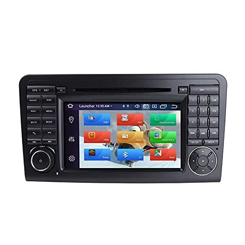 Android Car Radio Stereo, para Mercedes-Benz GL ML CLASE W164 X164 ML350 ML450 ML500 GL320 GL450 Android 9.0 Octa Core 4G RAM 64G ROM Pantalla HD capacitiva de 7 pulgadas Doble Din In Dash Auto GPS