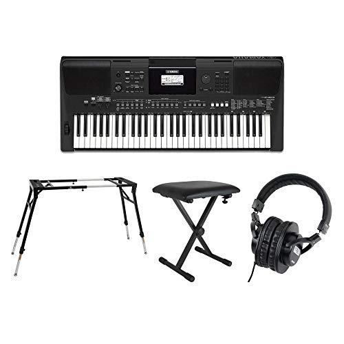 YAMAHA PSR-E463 PORTATONE 61鍵盤 電子キーボード キーボードスタンド キーボードベンチ ヘッドホン 4点セット [鍵盤 Fset]