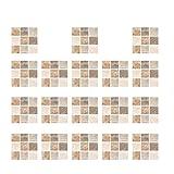 GARNECK Azulejos de mosaico adhesivos de piel y palo Backsplash para azulejos desmontables, autoadhesivos decorativos para la cocina, el baño, beige y marrón claro