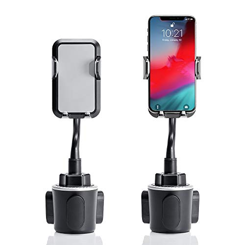 KLKE Car Phone Holder Upgraded Cup Holder Phone Mount Universal Phone Holder for Car 360° Rotatable Cup Phone Holder for Car with Quick Release Landscape Portrait Mode for iPhone Samsung Galaxy LG