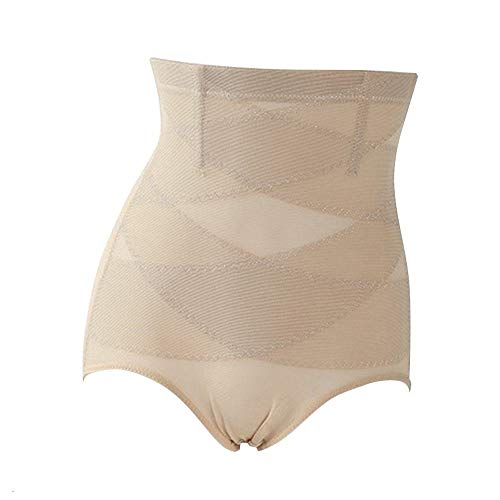 No-branded Waist Trimmers Women High Waist Trainer Body Shaper Panties Tummy Belly Control Body Slimming Control Shapewear Girdle Control Pants Dropship MDYHJDHYQ (Color : Khaki, Size : M)