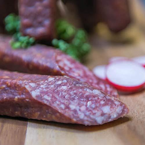 Hirschlandjäger | Harzer Rohwurstspezialität | Perfekte Brotzeit für unterwegs | Knackwurst (4)