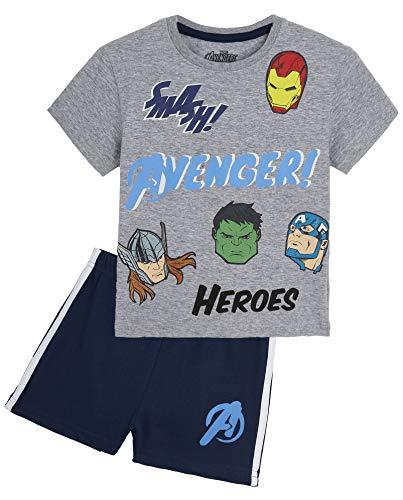 Marvel Pyjama Enfant Garcon, Ensemble Pyjamas Court avec T Shirt Super Hero Avengers Ou Spiderman Et...