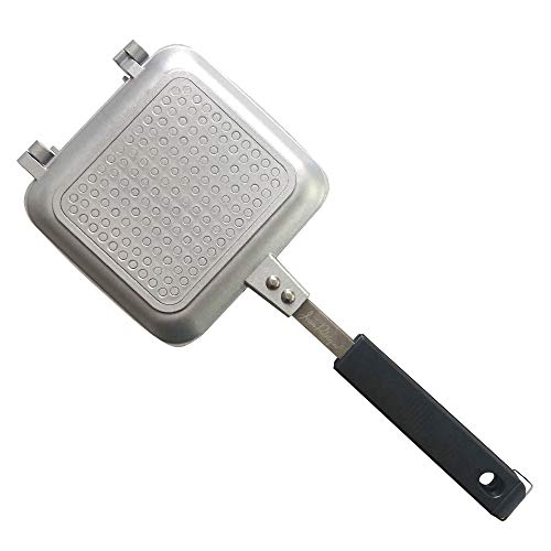 Jean-Patrique Toasted Sandwich Maker Non-Stick Technology Ideal for Indoors and Outdoors - Silver