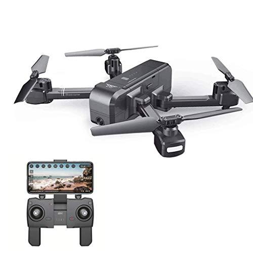 ZHCJH RC Quadcopter Drone Cámara 4K HD FPV, Motor sin escobillas Mochila Plegable 5G WiFi FPV 1080P Cámara Doble GPS Seguimiento dinámico, Mochila Una Sola batería