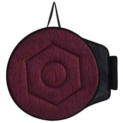Daxerg roterende zitkussen, draaistoel, pad, zacht, ademend, duurzaam, voor auto en thuiskantoor