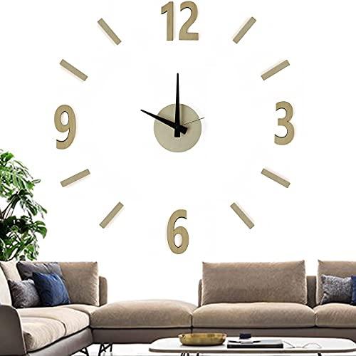VFD TimeTO - Reloj de pared moderno 3D adhesivo de madera -...