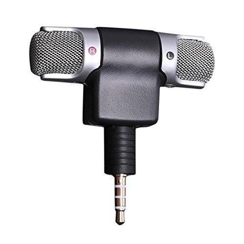 FancyU Micrófono para Smartphone,Mini 3,5 mm estéreo micr