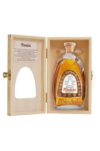 Original Aged Miodula Presidential Blend in Holzbox mit Sichtfenster | Polnische regionale Wodkaspezialität | 0,5 L, 40%