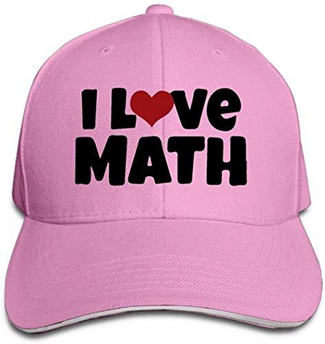 ZYZYY - Berretto da baseball unisex, con scritta 'I Love Math Trucker', regolabile, con visiera