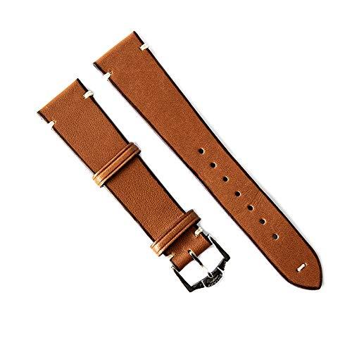Rotary Uhrenarmband 20mm Leder Braun verschraubter Anstoß - SP0050125