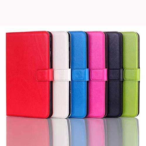 feilai Tablet Accessories Crazy Horse - Funda plegable para Tab4 T330 (color: rojo rosa)