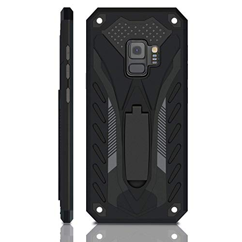 Samsung Galaxy S9 Case | Military Grade | 12ft. Drop Tested Protective Case | Kickstand | Wireless Charging | Compatible with Galaxy S9 - Black