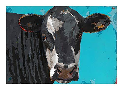 JCXOZ European Animal Oil Painting Art Jigsaw Puzzle - Cow - Wooden Toys DIY Modern Wall Art Unique Gift Home Decor(300/500/ 1000 Piece) (Size : 500pcs)