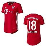 Bayern Trikot Home Frauen 2021, Spielerflock (zzgl. 10.00EUR):18 Goretzka, Größe:XL