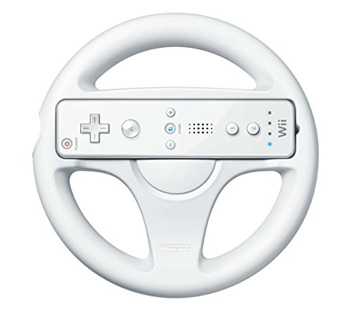 Official Nintendo Wii Wheel Wii Remote Controller not included (Renewed)