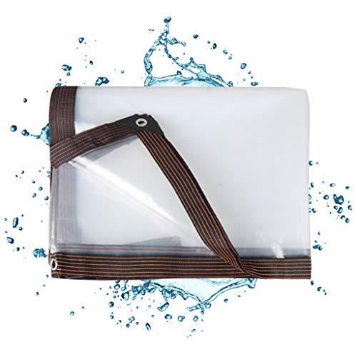 NMRCP Lona Impermeable Transparente, Lonas Impermeables con Ojal, Lona para Piscina, 200 g/m² Resistente al Agua y a los Rayos UV para Cubrir Remolques Muebles Automóviles Barco
