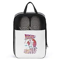 シューズケース バック トゥ ザ フューチャー シューズ袋 シューズバッグ トラベル 旅行ポーチ 旅行バッグ 靴収納 手持ち付き 収納袋 靴入れ 多機能 防水 防塵 トラベル用 2点セット 大容量