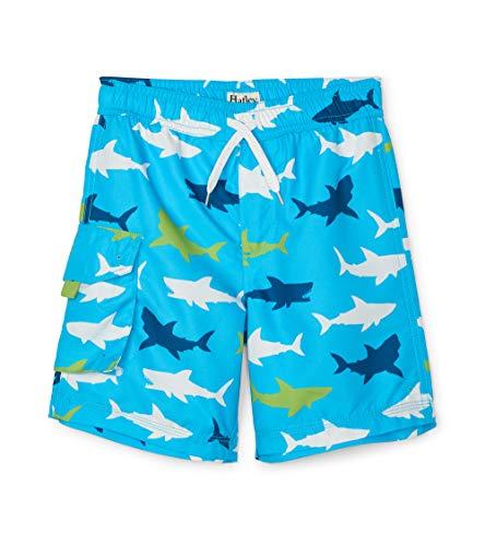 Hatley Jungen Board Shorts Badehose, Blau (Bluegreat White Shark 400), 4 Jahre