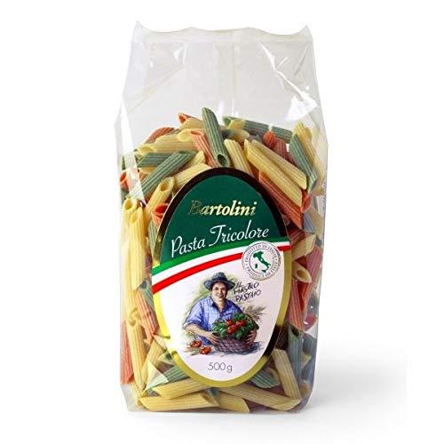 penne tricolori- Pasta di grano duro artiginale fatta in casa di semola con uovo fresche 100% italiane