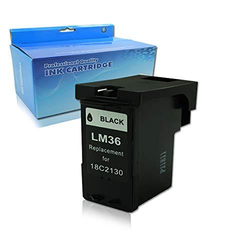Caidi - Cartucho de tinta compatible para Lexmark 36 XL + 37 XL para Lexmark Z2410 X3650 X3690 X4630 X4650 X5650 X3630 X5690 X6650 X6675 Z2420 X6690 Z2400