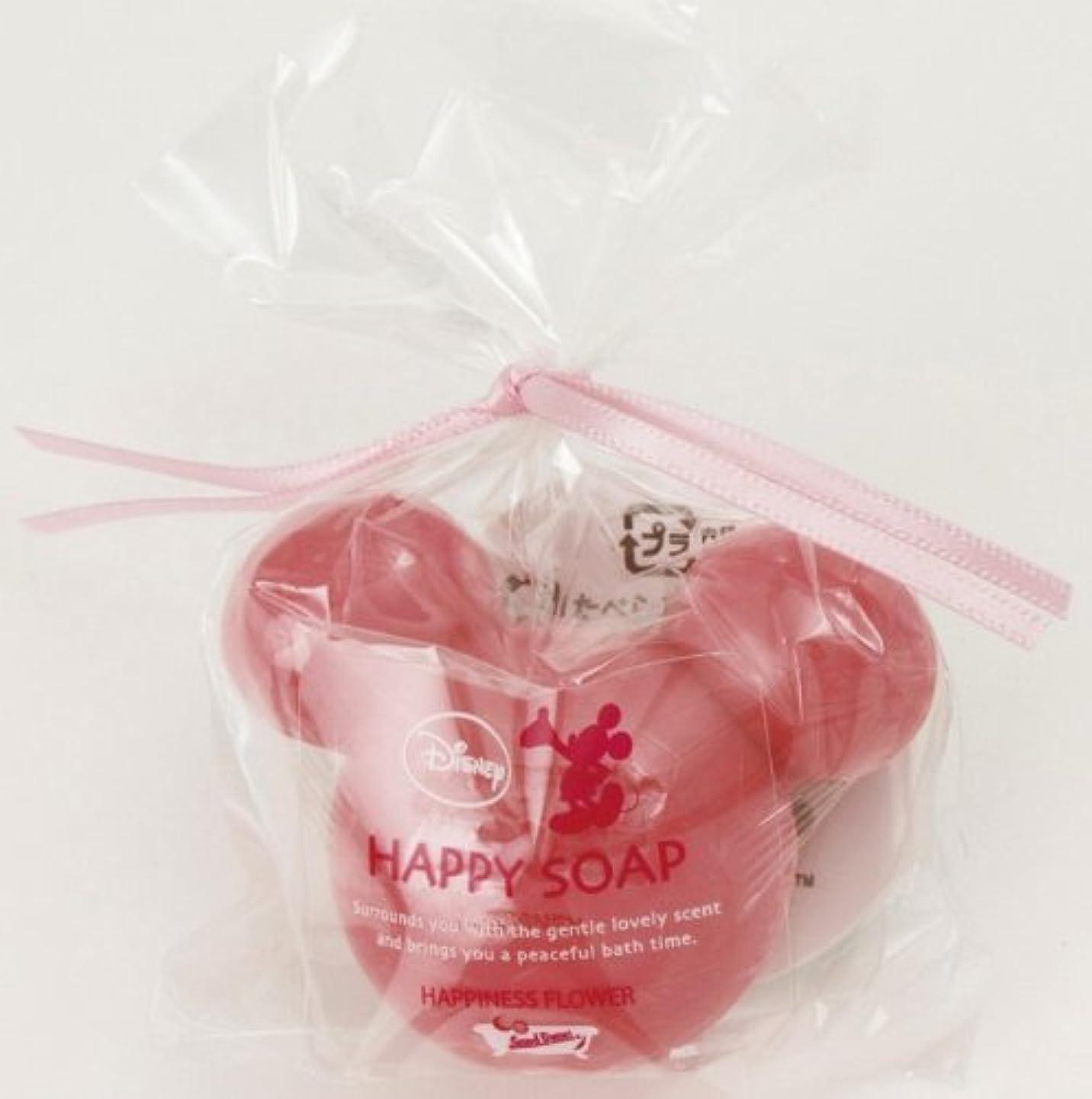 使用法副先ミッキーマウスのプチギフト ハッピーソープ ディープピンク(ローズの香り)