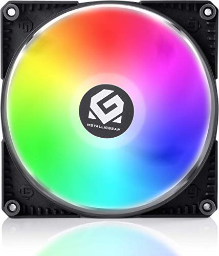 MTALLICGAR MetallicGear SKIRON MG-F140 D-RGB PWM, 4-Pin High Airflow D-RGB Fan (140mm, Black Fan Frame with Matte White Blades) - Powered By Phanteks