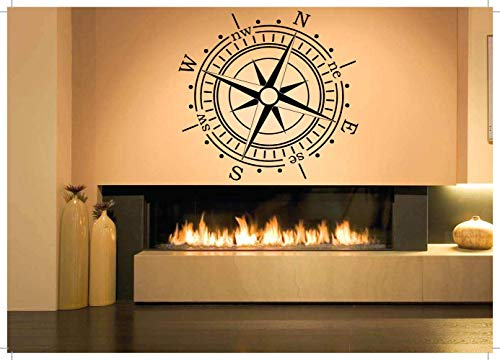 Vinyl Sticker Compass Directions North South East West Nautical Theme Crossed Arrows Target Tattoo Poster Mural Decal Wall Art Decor SA1972