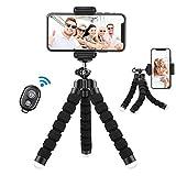 Handy Stativ mit Fernauslöser, Lidasen Oktopus Stativ Flexibel Handyhalterung Ständer, IOS Android Bluetooth Selfie Tripod für iPhone Samsung Kamera