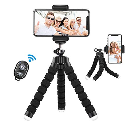 Lidasen Phone Tripod Holder, Flexible Mini Tripod for Phones with Bluetooth...