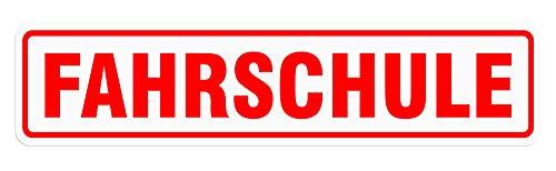 LOHOFOL Magnetschild FAHRSCHULE | 3 Größen lieferbar | Schild magnetisch (35 x 8 cm)