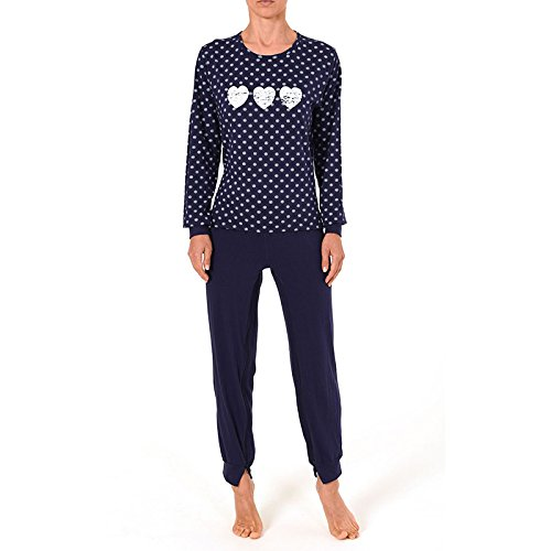 Normann Damen Pflegeoverall im Pyjama-Look Large
